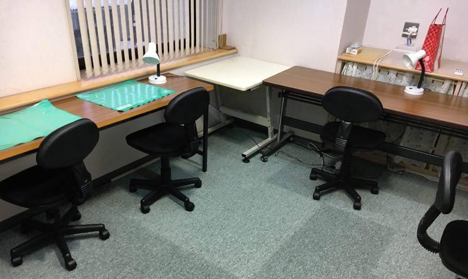 阿賀野市水原のアルファゼミナールの自習室